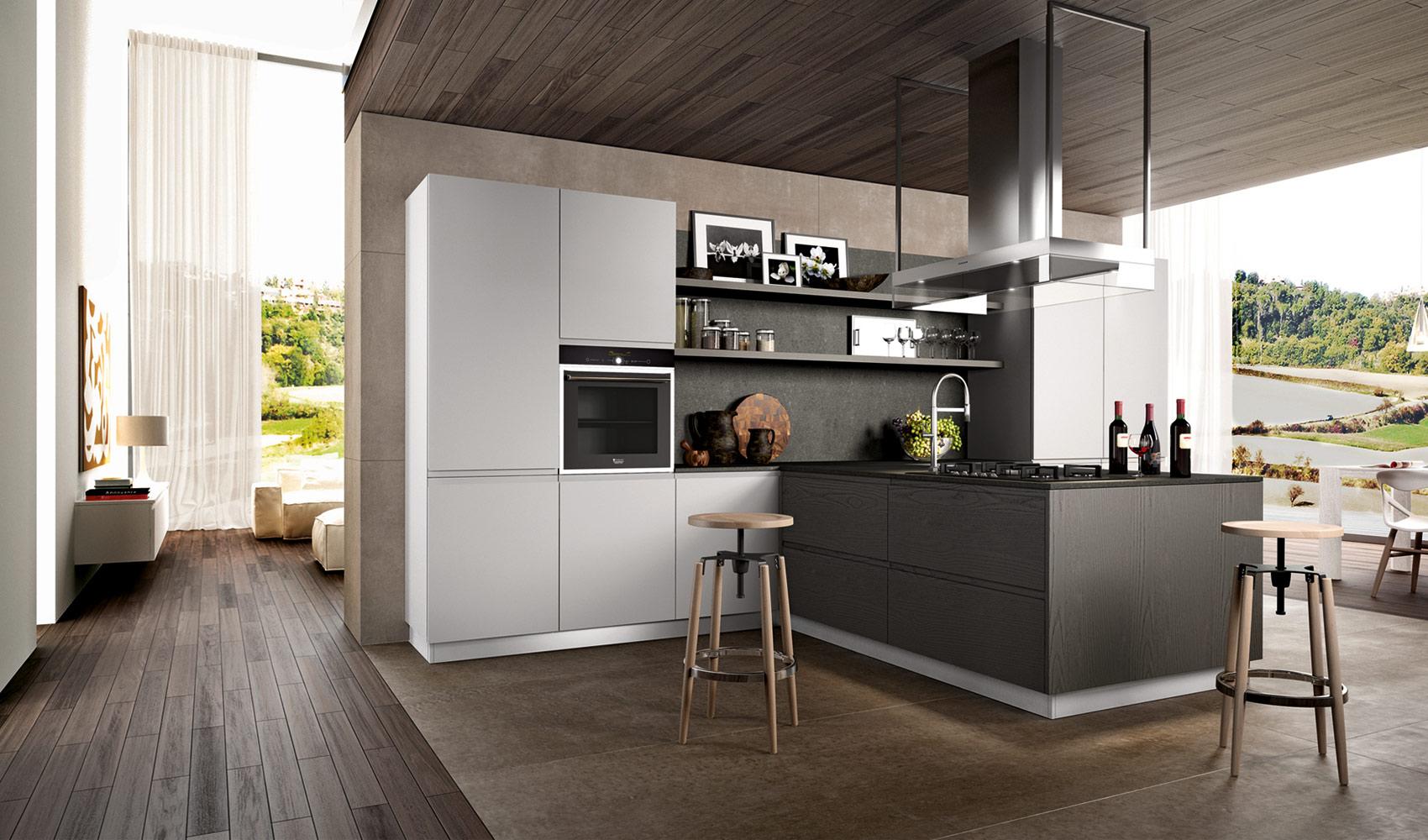 D couvrez nos gammes de cuisines plans pluriel - Cucine moderne scure ...