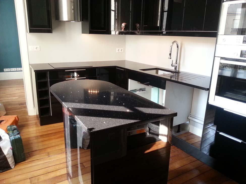 catgorie granit plans de travail with plan de travail noir. Black Bedroom Furniture Sets. Home Design Ideas