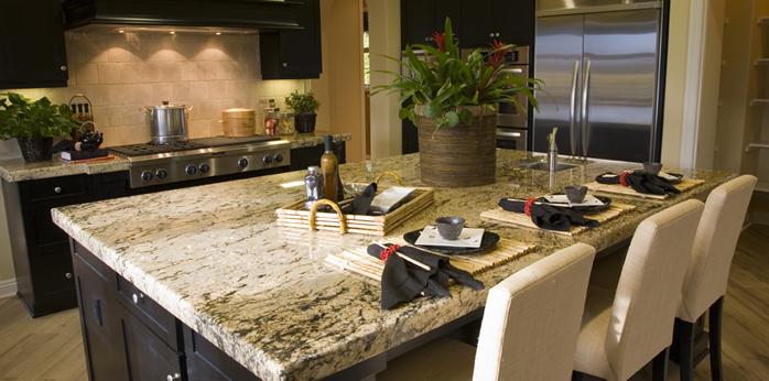 Plan de travail en granit une valeur s re plans pluriel - Cuisine avec plan de travail en granit ...