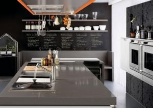 Emejing Deco Cuisine Gris Plan De Travail Ardoise Ideas - ansomone ...