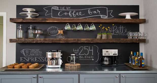 La peinture tableau noir : l\'idéal pour la cuisine | Plans Pluriel