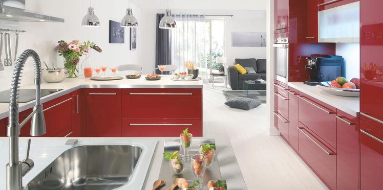 une cuisine ouverte moderne plans pluriel. Black Bedroom Furniture Sets. Home Design Ideas