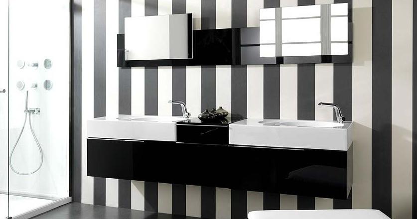 la salle de bains en noir et blanc est une pice deau au dcor intemporel en termes dagencement le noir et le blanc symbolisent le ct sobre et chic