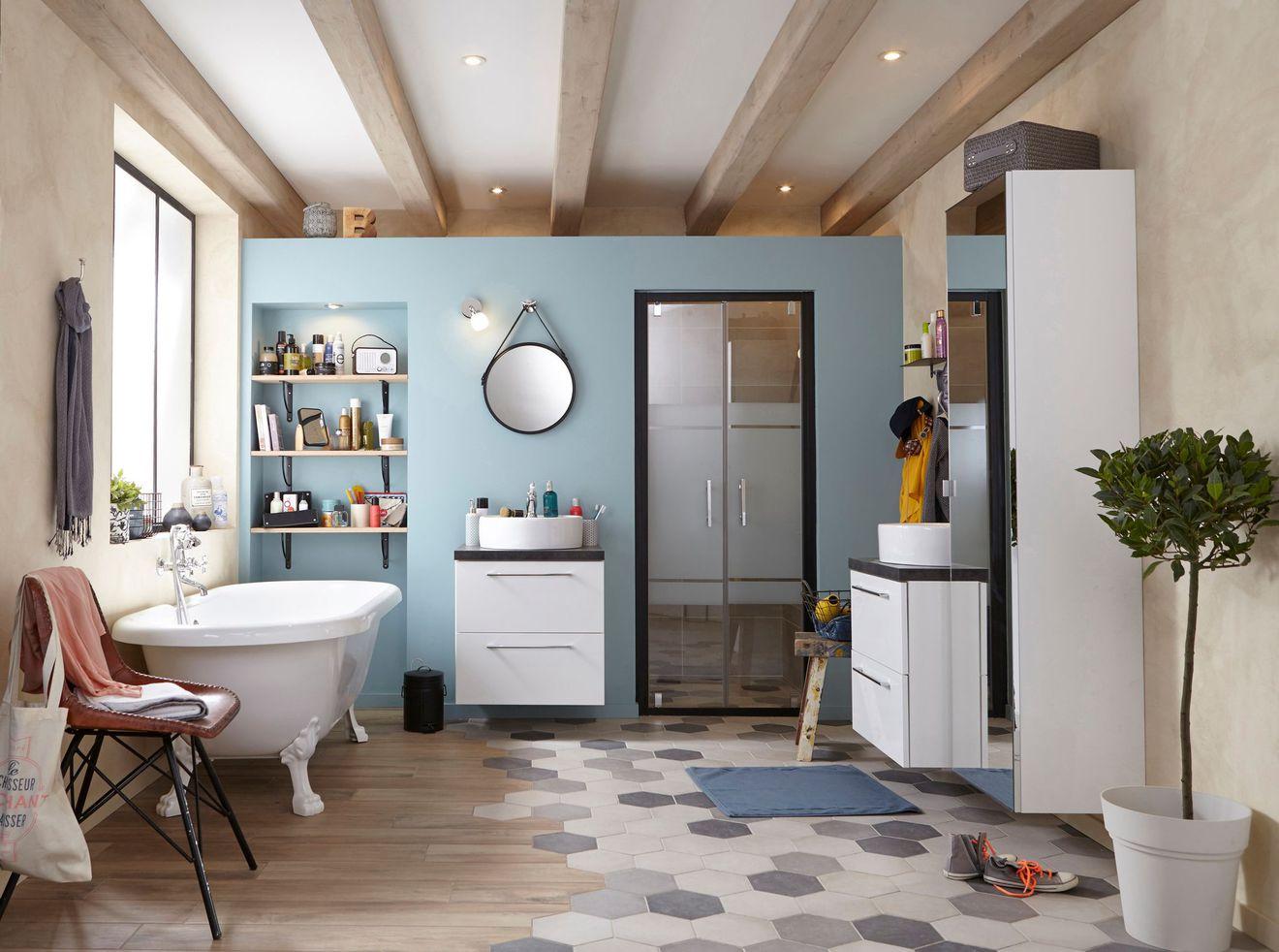 Aménager sa salle de bain façon rétro | Plans Pluriel