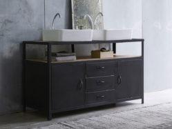 Le style industriel s'invite dans la salle de bains