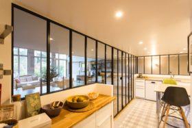 Aménagement cuisine la tendance verrière d'intérieur