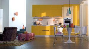 Déco cuisine tentez la couleur jaune curry