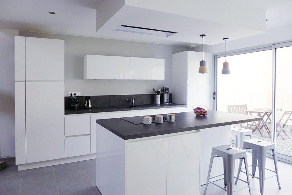 cuisine gris blanc