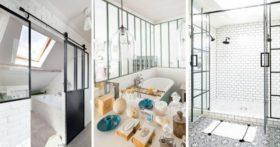 La verrière d'intérieur idéale pour la salle de bains